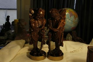 Pair Of Boxwood Carving Man photo