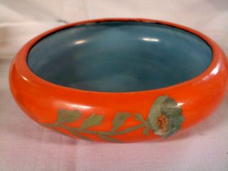 Vintage Oriental Bowl With Painted Flowers - Made In Japan photo