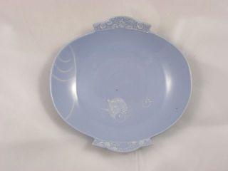 Antique Japanese Shaped Hirado Plate Marked Kishou 1920s Handpainted Nr 2819 photo
