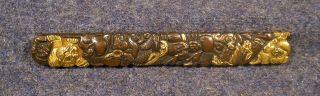 Kozuka Yamagane Zodiac Japanese Sword Koshirae Reduced photo