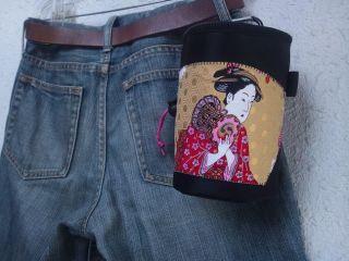 Handmade Chalk Bag By Vintage Kimono (obi) Bijinnga 3 photo