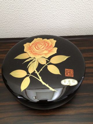 152 ~gold Lacquer Work Sweets Container~ Japanese Tea Ceremony Item photo