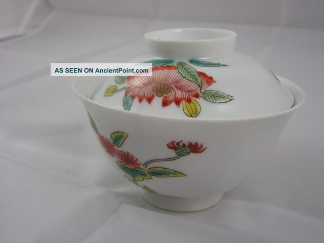 Antique Japanese Imari Chawan Early 19c Floral Decoration Handpainted Nr 2308 Porcelain photo