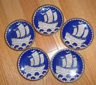 Chinese Small Cloisonne Enamel Dishes photo