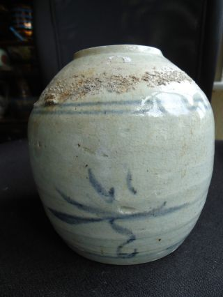 Antique 17thc Ming Dynasty Kitchen Pottery Ginger Jar Vase photo