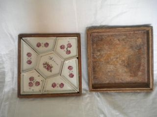 Antique Japanese Set Of Dishes In Box photo