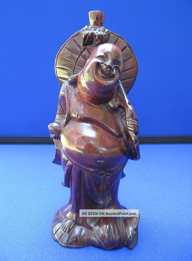Fine Antique Chinese Carved Rosewood Large Buddha Statue Buddha photo
