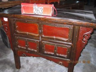 Antique Red Table photo