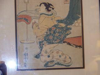 Japanese Edo Period C1825 Kuiyoshi Ichiyusai