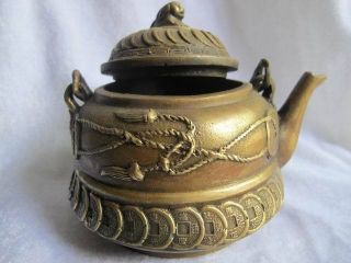 Chinese Teapot Bronze Carven Bringing In Wealth And Treasure 22 photo