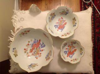 Set Of Three Japanese Asahi Sato Gorden Collection Bowls. photo
