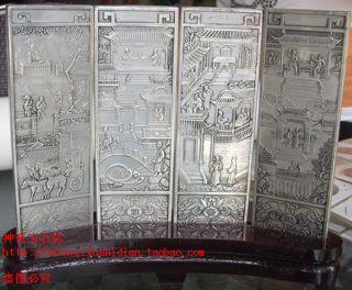 Js752 Rare,  Chinese Tibetan Engraving ' Elegant Ho Fun ' photo