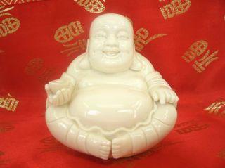 Chinese White Porcelain Happy Buddha photo