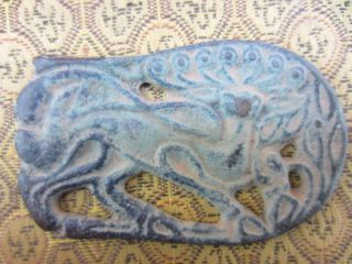 Collection Chinese Bronze Ancient Times Delicate Carving Lion Pendant - - - Rb photo