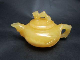 100% Natural Mihuang Jade Teapots & Lid W Bamboo Nr photo