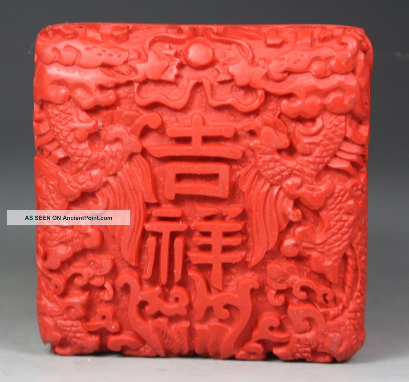Chinese Old Lacquer Wonderful Handwork Carving