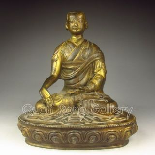 Chinese Bronze Statue - Buddhism Luohan Nr photo