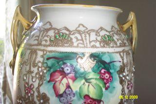 Antique Moriage Vase Art Nouveau 13