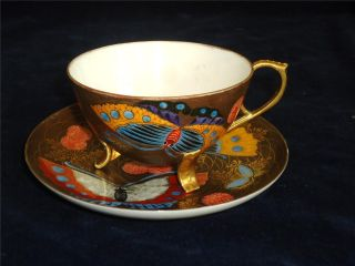Japanese Exquisite Hand Painted Fine China Duo Six Character Signiture C1900. photo