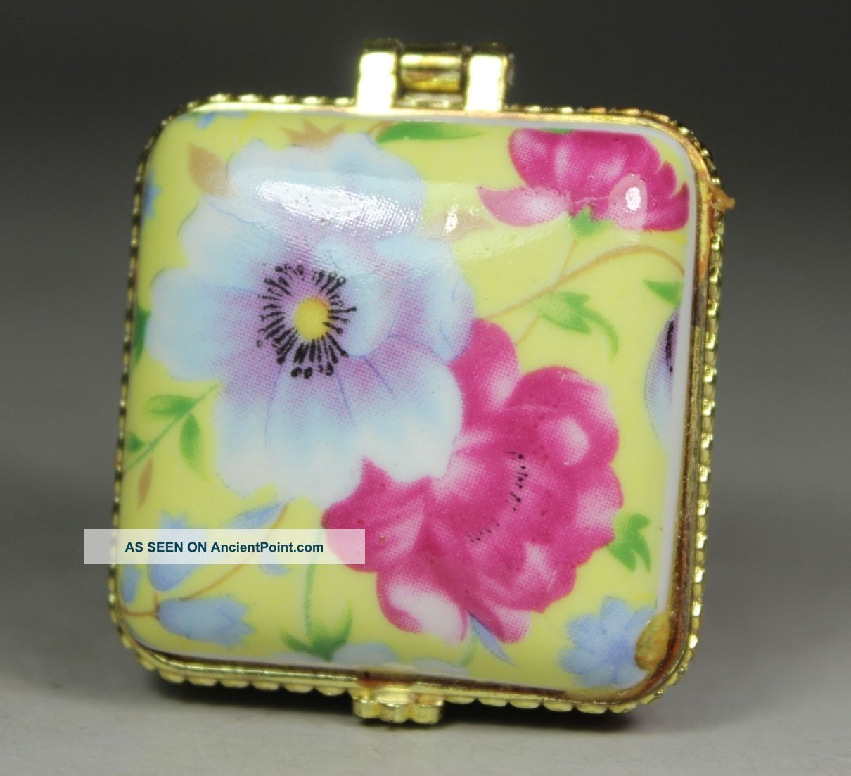 Chinese Handwork Porcelain Flower Old Jewel Case Boxes photo