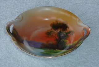 Stunning Japanese Noritake 2 Handle Dish. photo