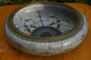 Stunning Large (30cm) Antique Chinese Cloisonne Bowl - With Mark photo