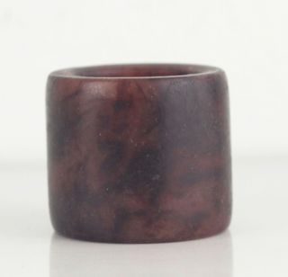 Asian Chinese Old Jade Stone Lucky Thumb Ring,  Deep Colour photo
