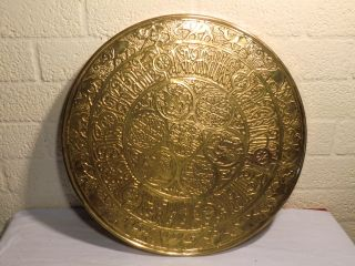 Antiques Copper Plate 50 Cm. .  673 photo