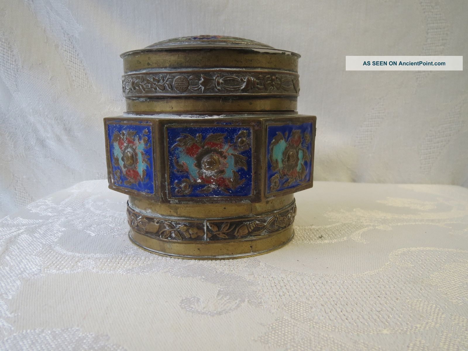 Chinese Cloisonne Wireless Brass Enamel Huge Box Nr Boxes photo
