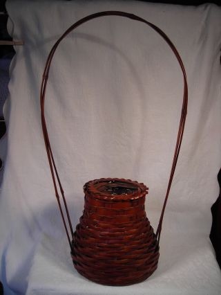 Antique 26 Inch Tall Early 1900 ' S Japanese Ikebana Basket/ Vase photo
