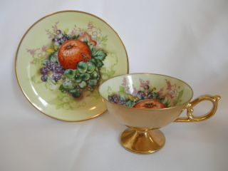 Old Maruichi Cup And Saucer ~ Handpainted Japan photo