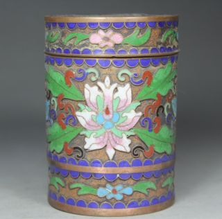 Chinese Old Closionne Wonderful Handwork Flower Snuff Box photo