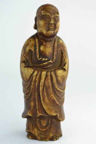 Asian Old Collectibles Decorated Handwork Alabaster Buddha Exorcism Statue Aaaaa photo