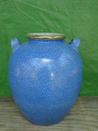 Large Japanese Satsuma Signed Kenzan Studio Vase Nr photo