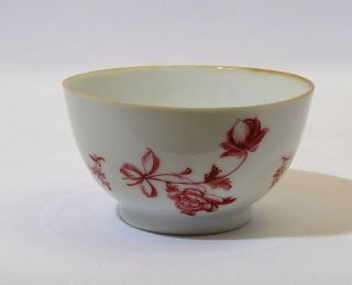 18thc Chinese Porcelain Tea Bowl - En Camaieu Floral Decoration photo