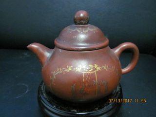 Chinese Porcelain Teapot Unique Style Girls Design photo