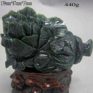 100% Natural Chinese Hetian Jade Statue - - - Cabbage Nr/bg532 photo