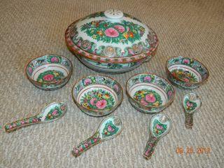 Chinese Soup Bowl Set (12 Pieces) photo