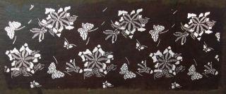 Antique 19c Japanese Ise Katagami Kimono Stencil Art Edo - Meiji Period 型紙 1664 photo