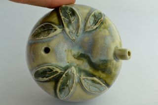 Asian Old Collectibles Decorated Handwork Porcelain Leaf Water Drop Statue Aaaaa photo