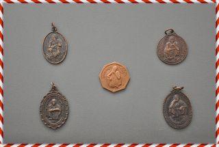Very Old 5 Coin Lp.  Koon Parisutto Wat Ban Rai Amulet Thailand Power Good Luck photo