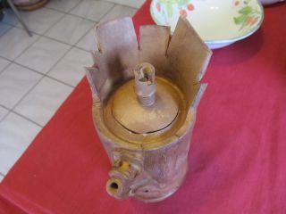 Wonderful Yixing Zisha ? Clay Pottery Old Pine Teapot Signed. photo
