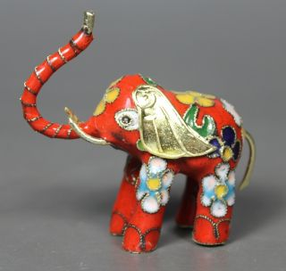 Lovely Chinese Old Closionne Wonderful Handwork Elephant Statue ☆☆☆☆☆ photo