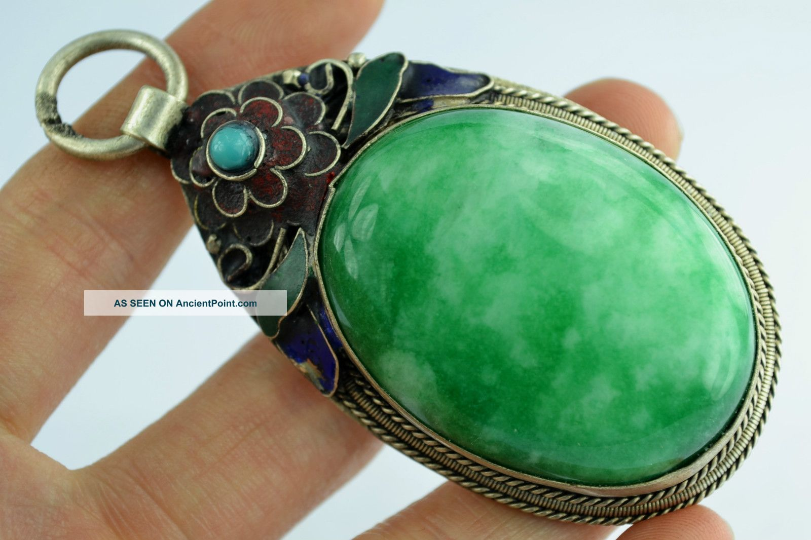 - China Collectibles Old Decorated Handwork Jadeite Butterful Pendant Other photo