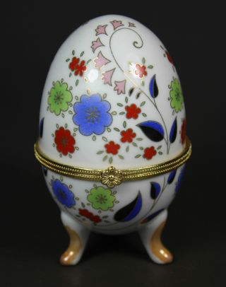 Chinese Old Porcelain Handwork Painting Flower Jewel Box photo