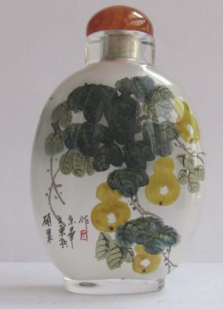 110 Peking Glass Inner Painting Calabashes&towel Gourd Snuff Bottle Collection photo
