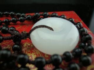 A 100% Hotan White Jade,  Natural Jade,  Peace Button,  Jade Pendant photo