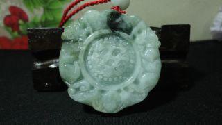 Chinese100%natural Green A Grade Jadeite Pendant/pixiu&pingan/a Jadeite Bead photo