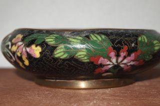 Antique Brass Cloisonne Ashtray Enameled Inside photo