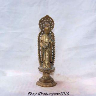 Chinese Buddhism Guanyin Goddess Of Mercy Buddha Statue photo